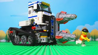 LEGO Cars and Trucks Experimental Police truck and crane tow truck video for kids