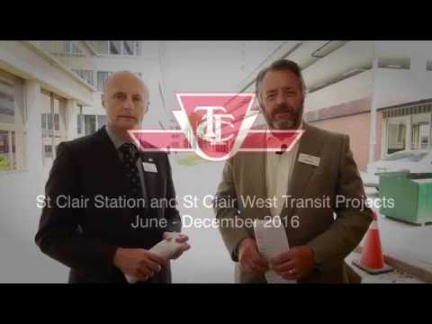 St Clair Station and St Clair West Transit Projects: June - December