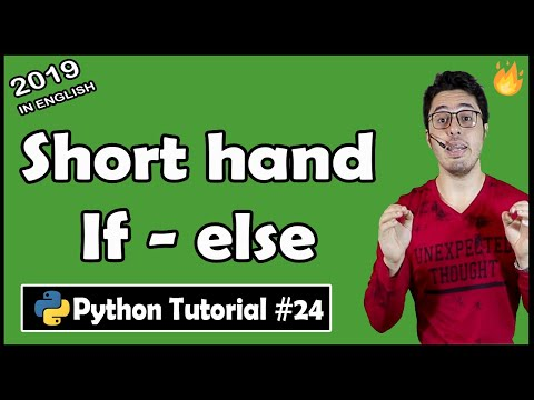 Short Hand If - Else Notation in Python   Python Tutorial #24 thumbnail