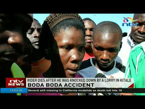 Boda boda rider dies after he was knocked down by a lorry in Kitale