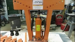 pipe bender 12 ton demonstrate review.