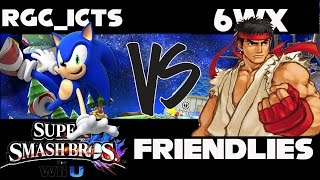 Friendlies W/6WX! PART 1 Me(Sonic, Roy, Falcon, Falco) vs. 6WX(Ryu)
