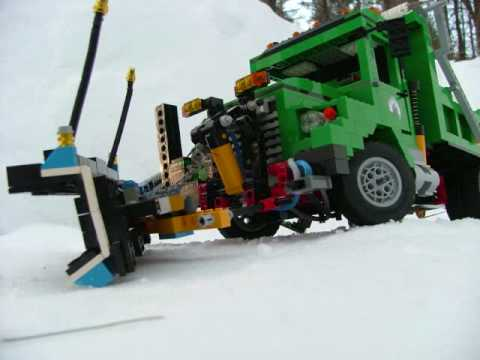 Build A Ford >> Lego Snow Plow (Pictures) - YouTube