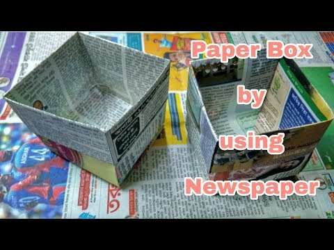 How to Make Paper box using Newspaper    Dustbin from Newspaper