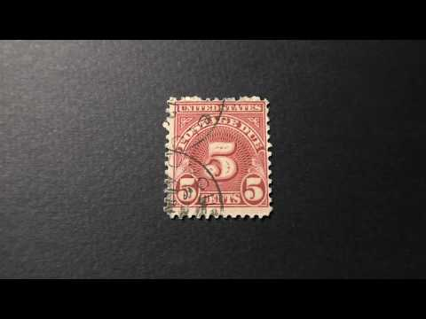 Postage Stamp. USA. Postage Due. Price 5 Cents