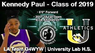 Kennedy Paul Highlights (Basketball on the Bayou) - University Lab/G4WYW 2019 F