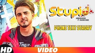 Iphone Text Story| Stupid | Armaan Bedil Ft. Raashi Sood | Tru Makers | Coming Soon | Speed Records