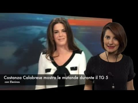 Costanza Calabrese mostra le mutande durante il TG 5: momento piccante in diretta thumbnail