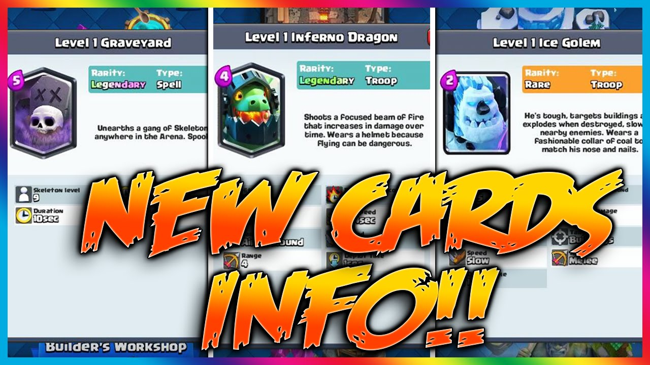 *NEW* LEAKED CARD INFO! Clash Royale New Cards Stats - YouTube