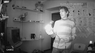 Тест инфракрасного прожектора 6 Вт.(Изготовление инфракрасных прожекторов. Тестирование ИК прожектора мощностью 6 Ватт. Установлено 6 ИК сверх..., 2016-05-20T08:47:05.000Z)