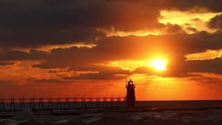 January sunset in South Haven thumbnail
