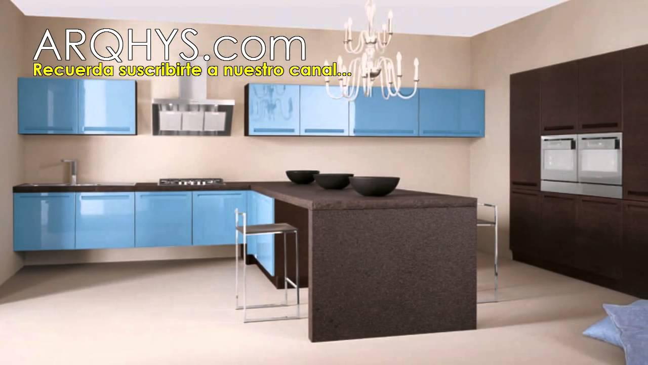 Cocinas de color azul y marron. Combinación de colores en la cocina ...