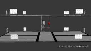 Двухтрубная система двухэтажного дома из металлопластика