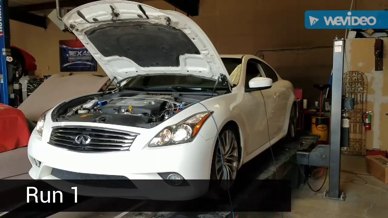 Modified and tuned G37 dyno day