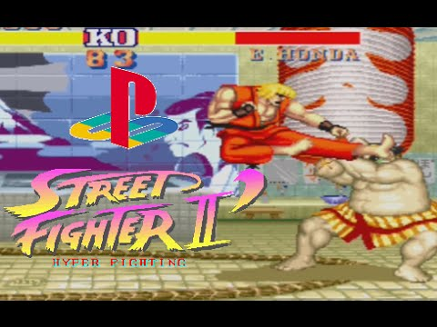 Street Fighter Ii Hyper Fighting Playthrough Playstation Youtube