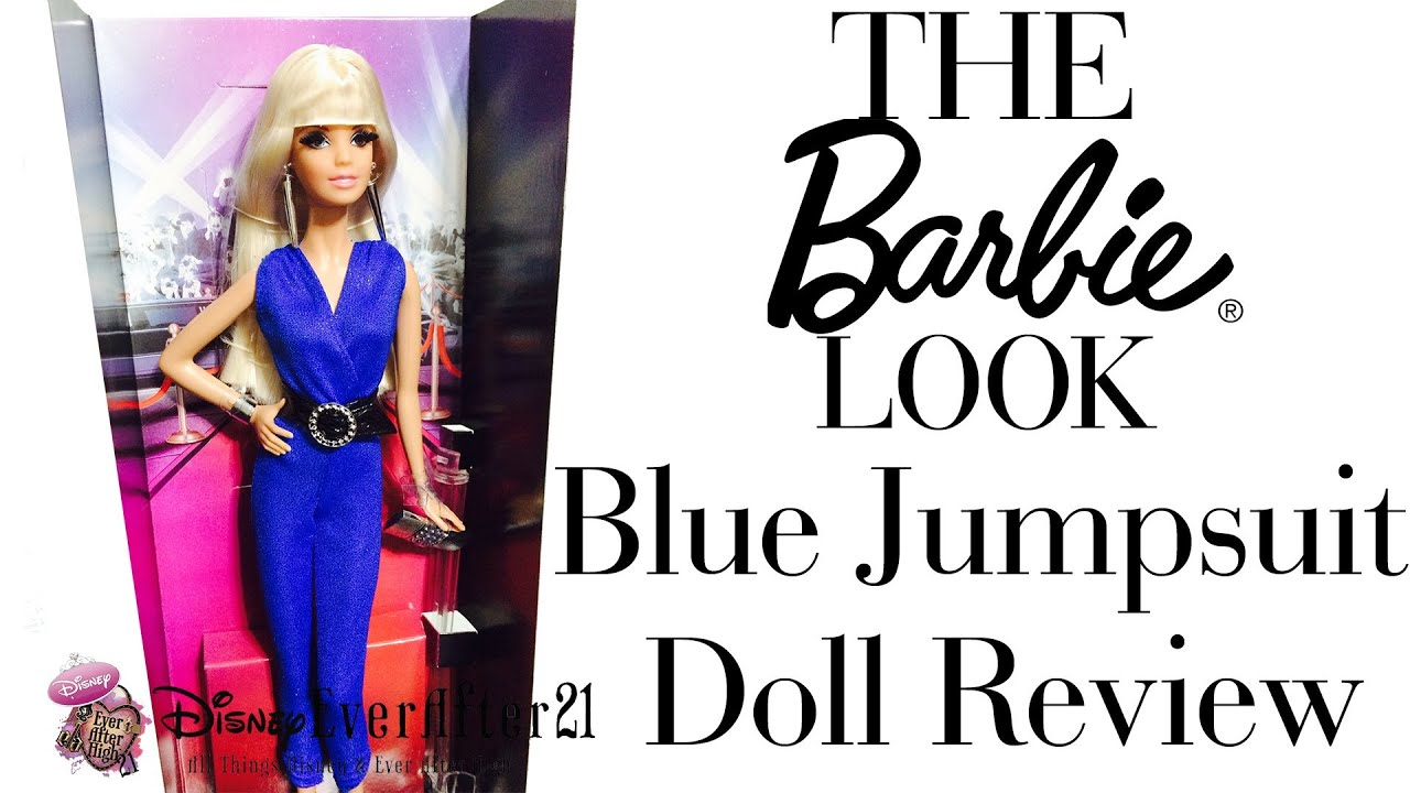 The Barbie Look Red Carpet Blue Jumpsuit Doll Review