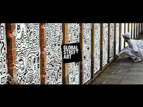 The Doodle Man Doodles Doors in Chalk Farm, London!