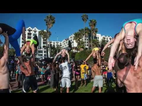 Acro AcroYoga Muscle Beach Breakdown with Tari Mannello