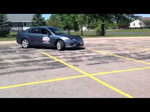 Perpendicular Parking a Vehicle