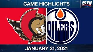 NHL Game Highlights   Senators vs. Oilers - Jan. 31, 2021