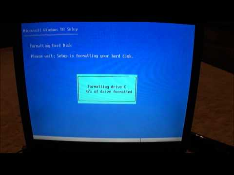 Installing Windows 98 on Dell Inspiron 7000 part 1