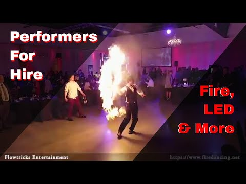Flowtricks Entertainment at the Omaha Design Center - LED, Fire, Cirque Style Performers for Hire