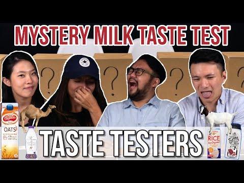 MYSTERY MILK TASTE TEST | Taste Testers | EP 46