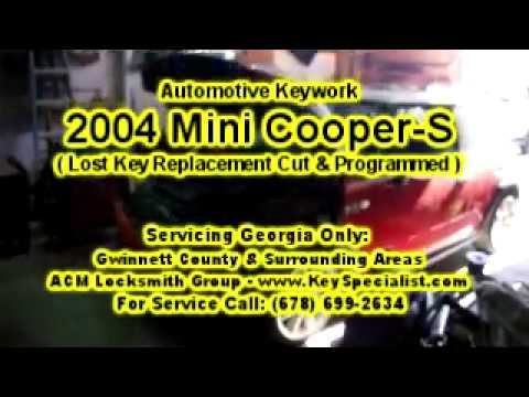 2004 Mini Cooper S Lost Key Replacement Made Programmed