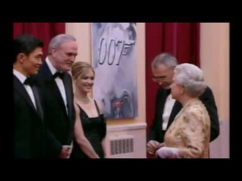 Madonna meets the Queen Elizabeth II