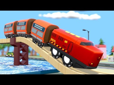 Train City Cartoon - Choo Choo Train - Toy TRAIN CARTOON - Trains for KIDS