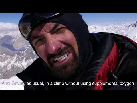 Alex Gavan Without Supplemental Oxygen On The Top Of Gasherbrum 2-8035m. 360 Degrees Panorama. 2019
