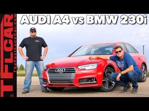 Audi A4 vs  BMW 230i 0-60 Mashup Review: 2.0L vs 2.0L in Different Cars