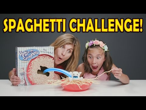 Thumbnail: SPAGHETTI CHALLENGE!!! Yeti In My Spaghetti Game! Mother vs. Daughter!