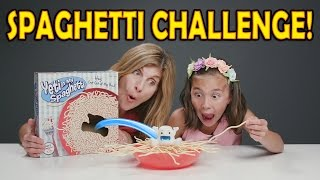 SPAGHETTI CHALLENGE!!! Yeti In My Spaghetti Game! Mother vs. Daughter!