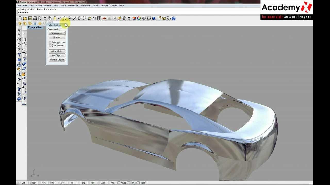 Mc Neel Rhinoceros Car modeling tutorial part 30 - YouTube