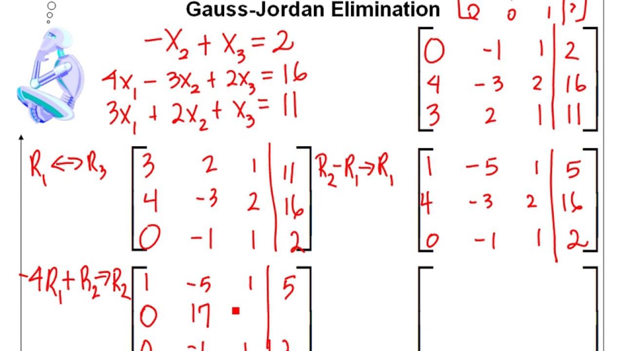 gauss jordan elimination