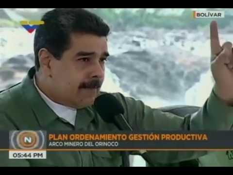 Presidente venezolano Nicolás Maduro hace encuentro con trabajadores del Arco Minero