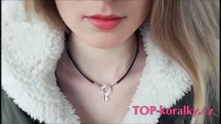 Leather necklace Female Symbol Swarovski TUTORIAL