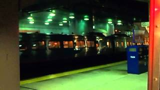 AMTRAK Acela Express leaves Stamford
