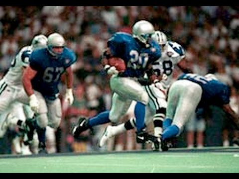 1994 WK 3 Detroit Lions (1-1) @ Dallas Cowboys (2-0) MNF, Barry Sanders vs Emmitt Smith