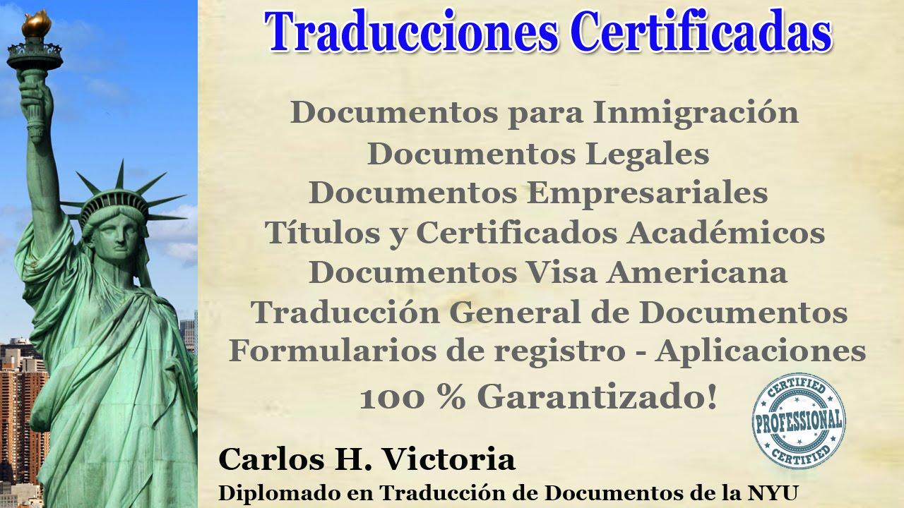 Traducción de Documentos (INGLES) - YouTube