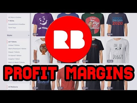 Profit Margins on Redbubble - 25% Markup for Passive Income?