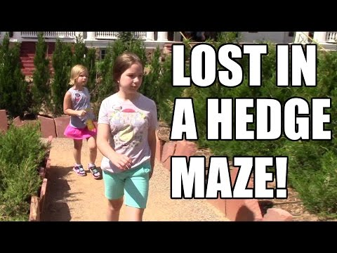 Lost in a hedge maze! Haunted Stanley Hotel tour! | Life With Jillian & Addie | Babyteeth4