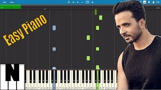 Easy Despacito - Luis Fonsi ft. Daddy Yankee - Easy Slow Piano Tutorial By Pianic