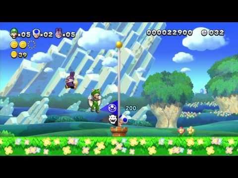 New Super Luigi U Multiplayer Playthrough - Acorn Plains