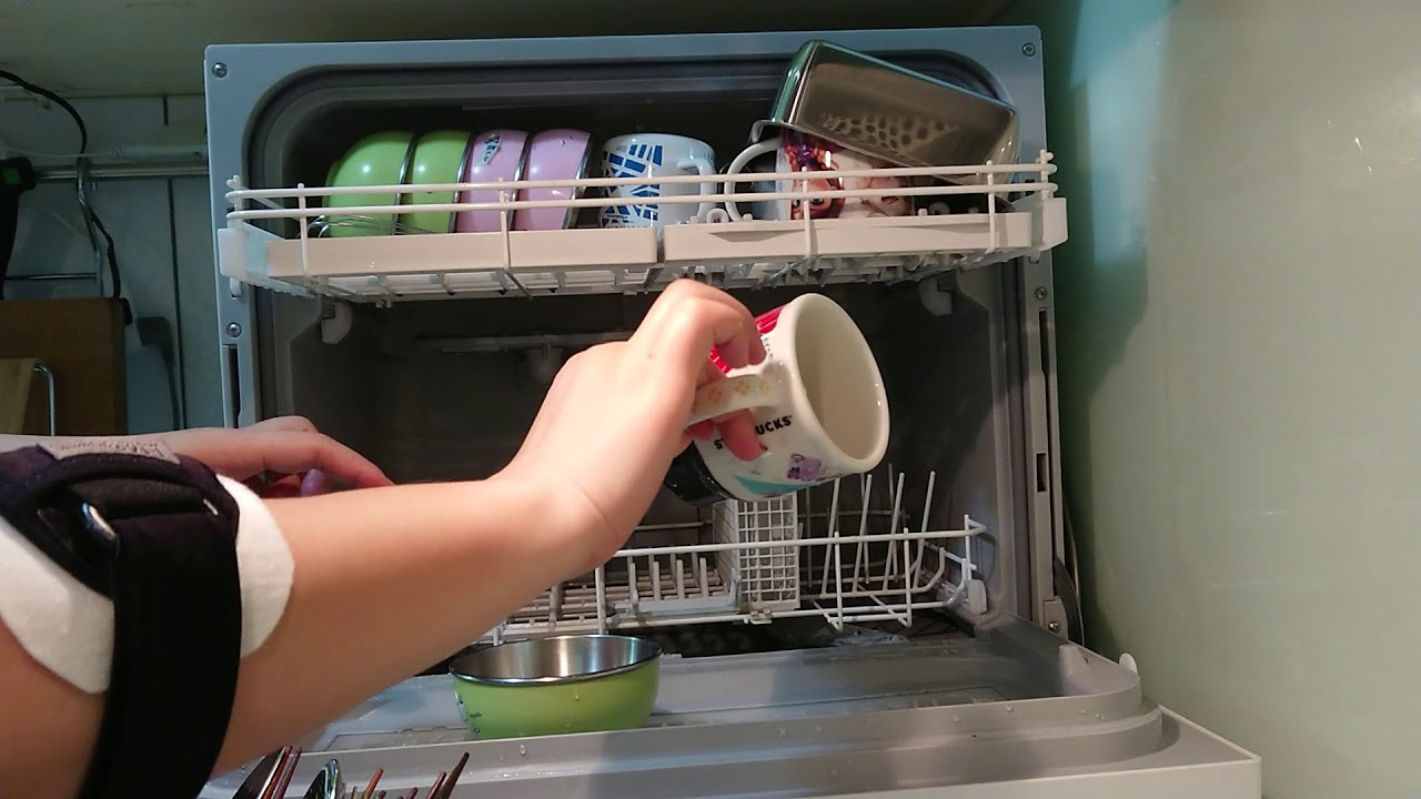 挑戰 panasonic NP-TH1 洗碗機 最大滿載量 - YouTube