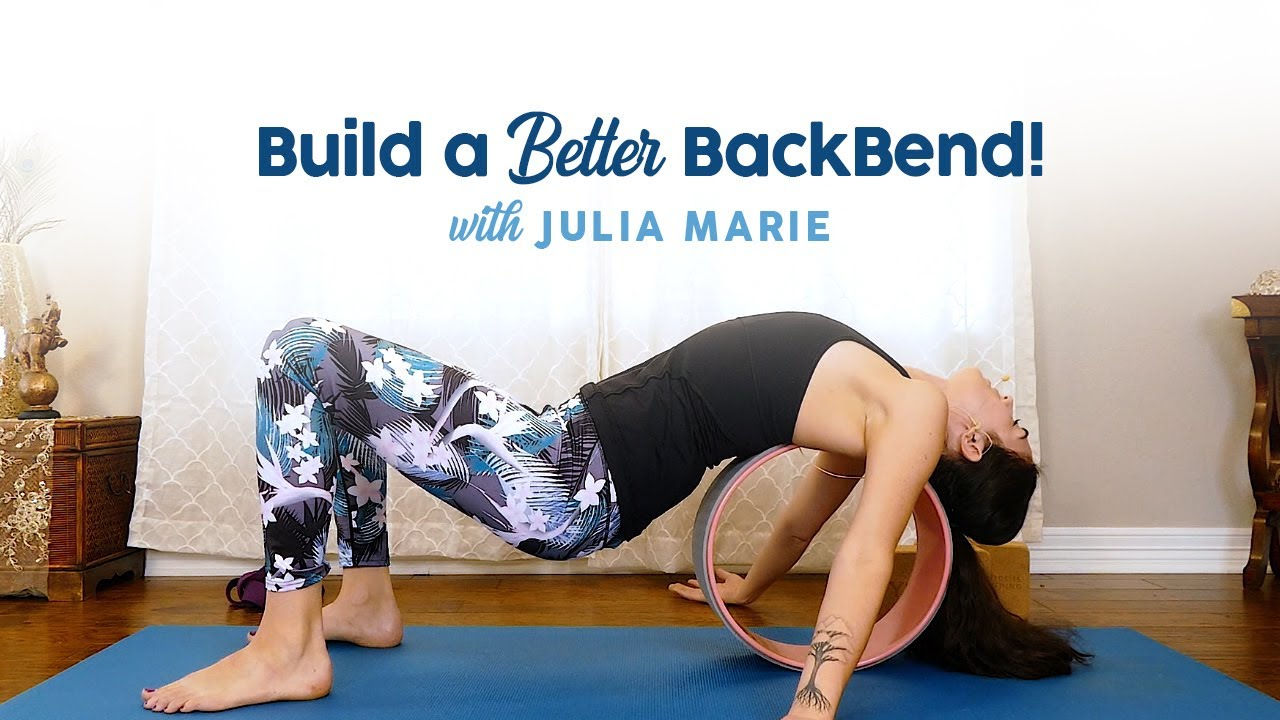 Yoga for Backbends, Spinal Flexibility, Open Heart & Chest ♥ How to Use Blocks, Wheel, Strap, Pr