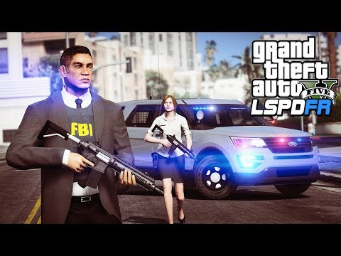 GTA 5 - LSPDFR Ep304 - FBI Agents Patrol ft. Scully!!