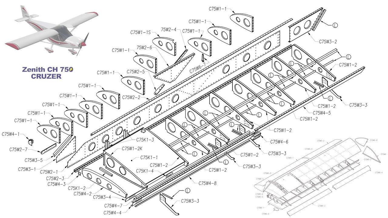 diagram of a jet plane wing