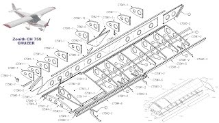 Building the Zenith CH 750 Cruzer kit airplane: Part One: Internal Wing Assembly